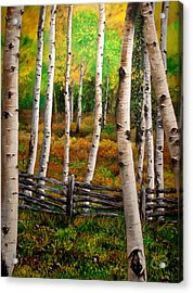 Acrylic Print featuring the painting Aspen Meadow by Jessica Tookey