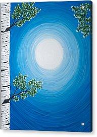 Aspen Moon 2 Triptych Acrylic Print