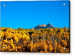 Acrylic Print featuring the photograph Aspen Moon by Eric Rundle