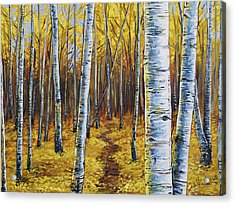 Acrylic Print featuring the painting Aspen Trail by Aaron Spong