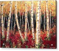 Aspen Woodlands Acrylic Print by Amy Wyatt