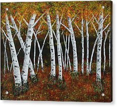 Aspens In Fall 1 Acrylic Print by Melvin Turner