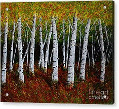 Aspens In Fall 2 Acrylic Print by Melvin Turner