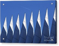 aSPIREing Air Force Academy Chapel with Jet Acrylic Print