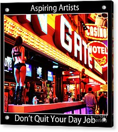 Aspiring Artists Acrylic Print by John Rizzuto