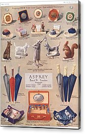 Asprey 1925 1920s Uk Asprey Gifts Acrylic Print by The Advertising Archives