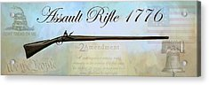Assault Rifle Acrylic Print by GCannon