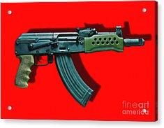 Assault Rifle Pop Art - 20130120 - V1 Acrylic Print by Wingsdomain Art and Photography