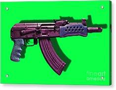 Assault Rifle Pop Art - 20130120 - V3 Acrylic Print by Wingsdomain Art and Photography