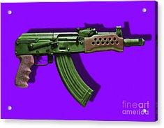 Assault Rifle Pop Art - 20130120 - V4 Acrylic Print by Wingsdomain Art and Photography