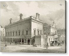 Assembly Rooms, Bath, Circa 1883 Acrylic Print by R Woodroffe