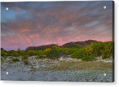 Asseteague Island Dune Sunrise Acrylic Print by Greg Vizzi