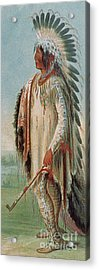Assiniboine Warrior 1831 Acrylic Print