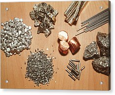 Assorted Transition Metals Acrylic Print by Klaus Guldbrandsen/science Photo Library