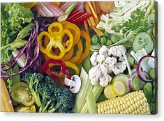 Assorted Vegetables Acrylic Print by Science Photo Library