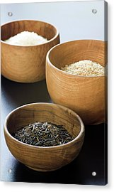 Assortment Of Rice Acrylic Print by Gustoimages/science Photo Library