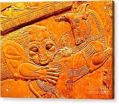 Assyrian Lion Acrylic Print