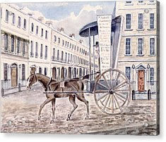 Astleys Advertising Cart Wc On Paper Acrylic Print by Thomas Hosmer Shepherd