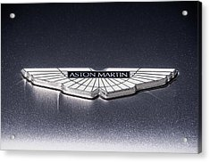 Acrylic Print featuring the digital art Aston Martin Badge by Douglas Pittman