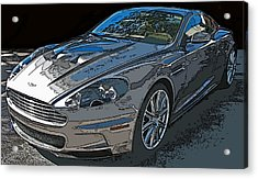 Aston Martin Db S Coupe 3/4 Front View Acrylic Print
