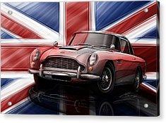 Aston Martin Db5 1963 Acrylic Print by Etienne Carignan