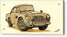 Aston Martin Db5 Acrylic Print by Juan  Bosco