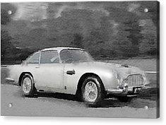Aston Martin Db5 Watercolor Acrylic Print by Naxart Studio