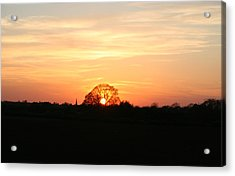 Acrylic Print featuring the photograph Aston Sunset by Elizabeth Lock