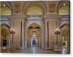 Astor Hall At The New York Public Library Acrylic Print by Susan Candelario