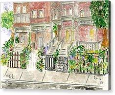 Astor Row In Harlem Acrylic Print