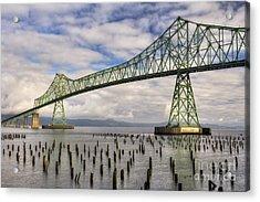 Astoria Bridge Acrylic Print by Mark Kiver