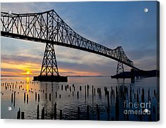 Astoria Bridge Sunset Acrylic Print