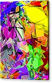 Acrylic Print featuring the digital art Astratto - Abstract 51 by Ze  Di