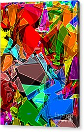 Acrylic Print featuring the digital art Astratto - Abstract 52 by Ze  Di