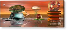 Acrylic Print featuring the digital art Astro Space by Jacqueline Lloyd