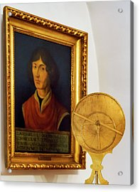 Astrolabe And Portrait Of Copernicus Acrylic Print by Babak Tafreshi