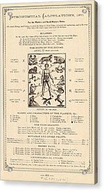 Astrology And The Human Body Acrylic Print by Mid-manhattan Picture Collection/new York Public Library