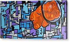 Astronaut Gummy Bear Acrylic Print by Jera Sky