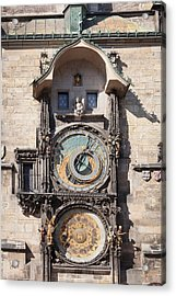 Astronomical Clock At The Old Town Acrylic Print by Panoramic Images