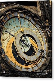 Astronomical Clock In Prague Acrylic Print by Jelena Jovanovic