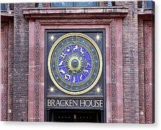 Astronomical Clock Acrylic Print by Martin Bond