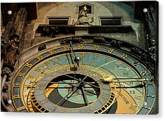 Astronomical Clock Acrylic Print by Sergey Simanovsky