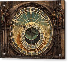 Astronomical Clock Acrylic Print by Shirley Radabaugh