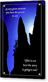 At Any Given Moment Acrylic Print by Mike Flynn
