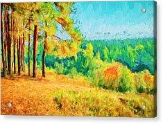 At Autumn Acrylic Print by Yury Malkov