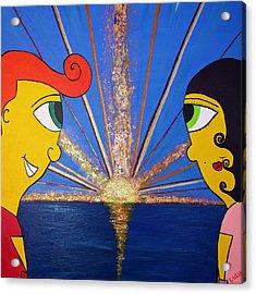 At First Sight Acrylic Print by Luisa Padro