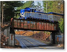 At Gibb's Crossing Acrylic Print by Mike Martin