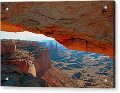 At Mesa Arch  --   2010 First Place Peoples Choice Caa Art Show  Acrylic Print