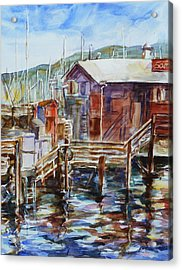 At Monterey Wharf Ca Acrylic Print by Xueling Zou