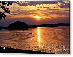 At Peace On The Lake Acrylic Print by Marilyn Carlyle Greiner